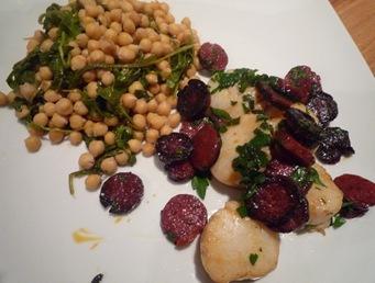 Assiette St Jacques Chorizo 1